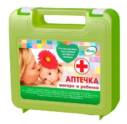 Аптечка мамы и малыша, арт. 8779 тип 02 состав №1 (футляр 02-04) светло-зеленый футляр пластиковый