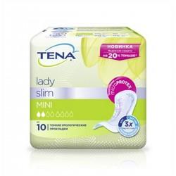 Прокладки урологические для взрослых, Тена леди №10 слим мини