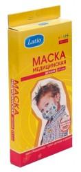 Маска медицинская одноразовая, №10 детская с рисунком 2400003675805
