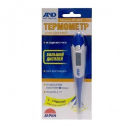 Термометр цифровой, Эй энд Ди №1 dt-623 электронный с гибким наконечником (время измерения около 60 сек)