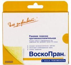 Повязка раневая, Воскопран р. 5смх7.5см №5 Лм с мазью левомеколь